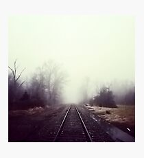 Train Track Addiction Photographic Print