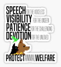 Protect Animal Welfare (black text) Sticker