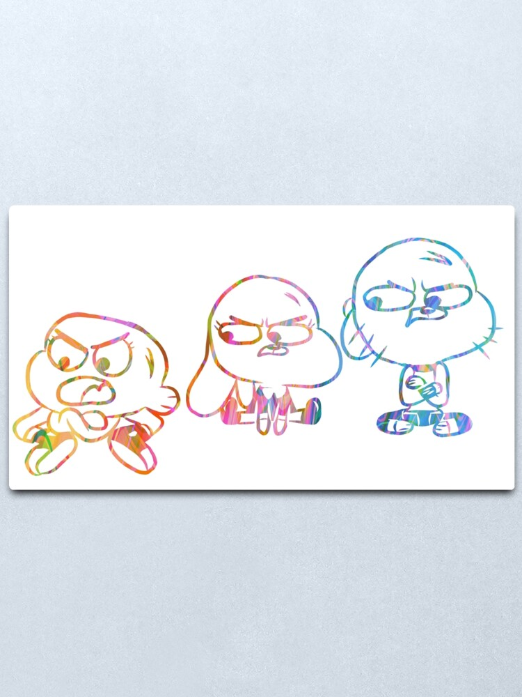 Alternate view of Mad Darwin, Anais, and Gumball - The Amazing World of Gumball Metal Print