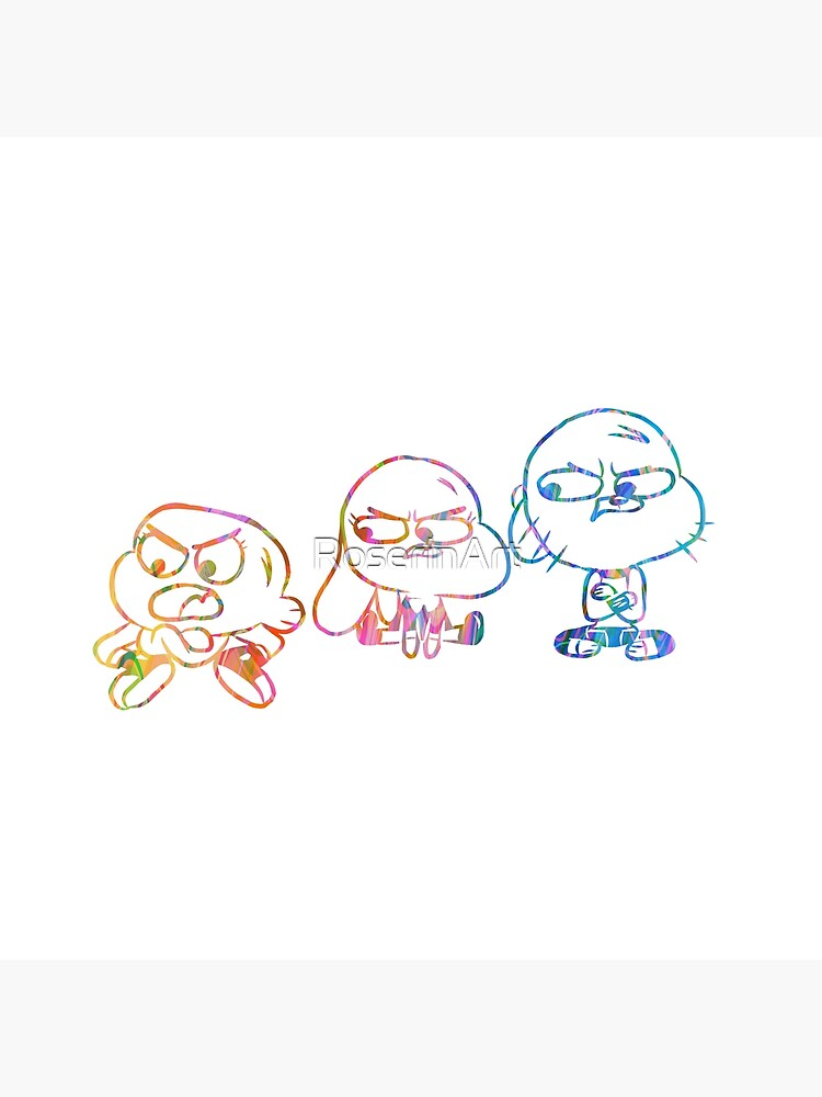 Mad Darwin, Anais, and Gumball - The Amazing World of Gumball by RoserinArt