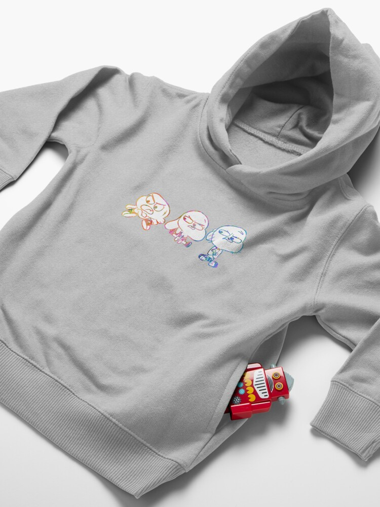 Alternate view of Mad Darwin, Anais, and Gumball - The Amazing World of Gumball Toddler Pullover Hoodie