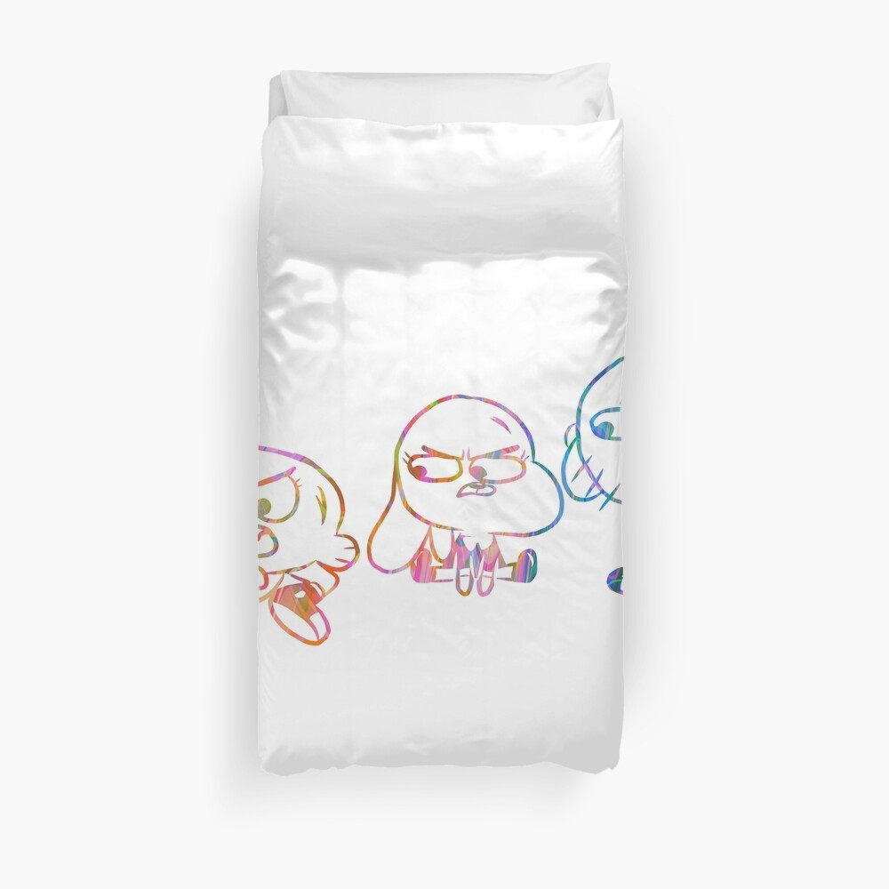 Mad Darwin, Anais, and Gumball - The Amazing World of Gumball Duvet Cover