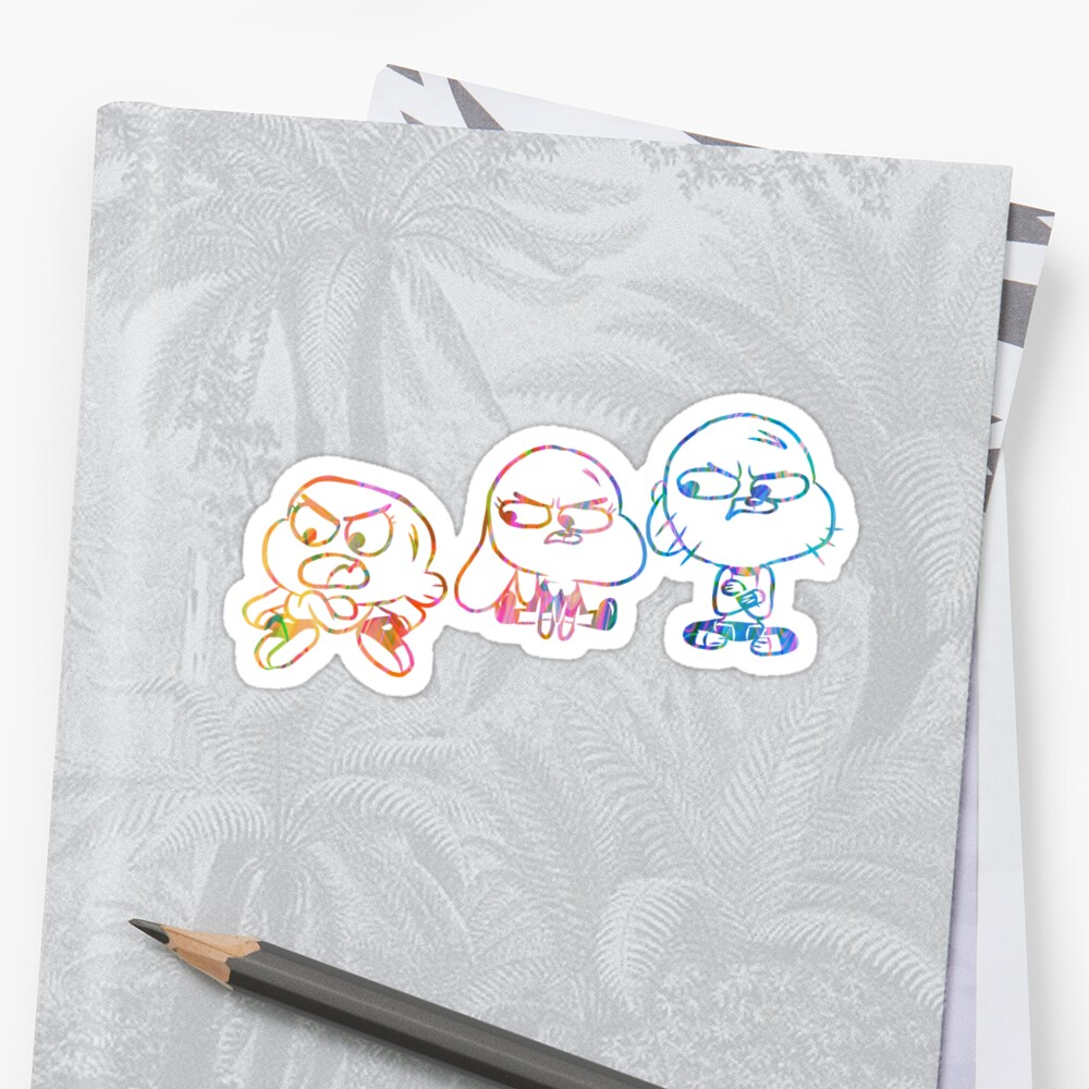 Mad Darwin, Anais, and Gumball - The Amazing World of Gumball Sticker