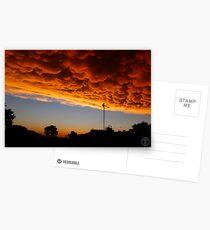 Orange Mammatus Clouds Postcards