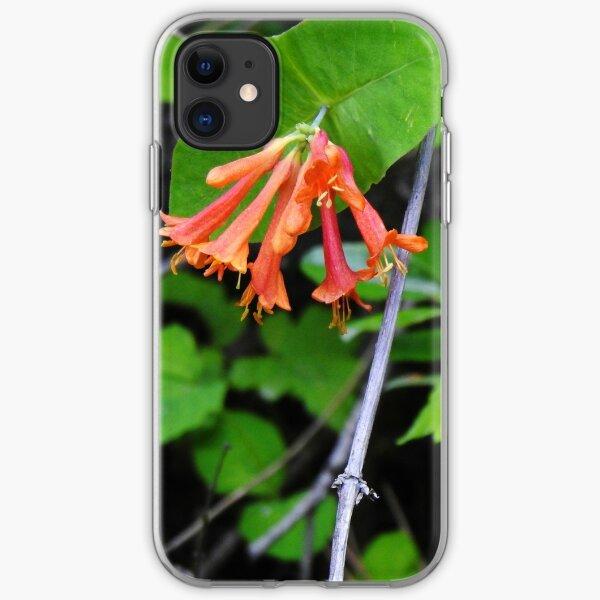 Orange Honeysuckle Wildflower iPhone Soft Case