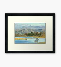 The Langdale Pikes from Wise Een Tarn Framed Print