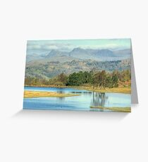 The Langdale Pikes from Wise Een Tarn Greeting Card