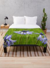 Wild Hyacinth Wildflower Throw Blanket