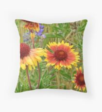 Blanket Flower Wildflowers Throw Pillow
