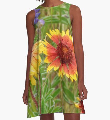 Blanket Flower Wildflowers A-Line Dress