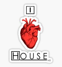 I Love House Sticker