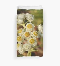 Pearly Everlasting Wildflowers Duvet Cover