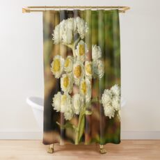 Pearly Everlasting Wildflowers Shower Curtain