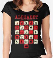Alphabet Women's Fitted Scoop T-Shirt