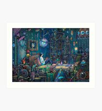 Howls room in Moving Castle Art Print