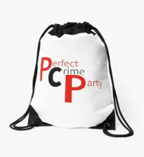 Perfect Crime Party- PCP Drawstring Bag