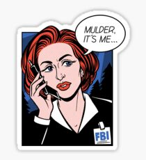 FBI Agent // Scully XFiles Lichtenstein  Sticker