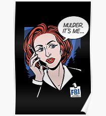 FBI Agent // Scully XFiles Lichtenstein  Poster