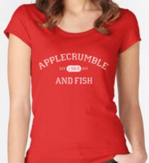 Applecrumble and Fish Women's Fitted Scoop T-Shirt