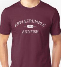 Camiseta ajustada Applecrumble y pescado