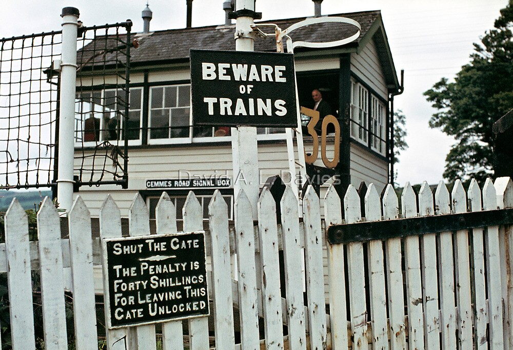 Cemmes Road signal box, Wales, UK. 1970s by David A. L. Davies