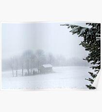 Unadorned Christmas Farmhouse Poster