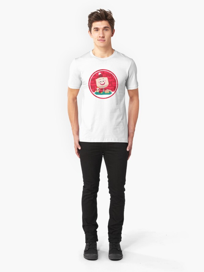 Alternate view of Larry the Joyful Burger Worker - The Amazing World of Gumball Slim Fit T-Shirt