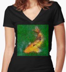 Dendrification 11 Fitted V-Neck T-Shirt