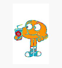 Colorful Doodle Darwin - The Amazing World of Gumball Photographic Print