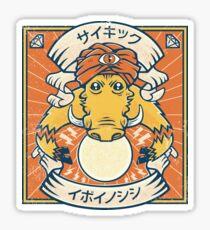 Psychic Warthog Sticker