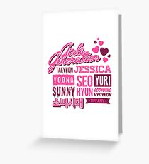 SNSD Girls' Generation Collage Greeting Card