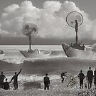 paper boats five by Nikolay Semyonov
