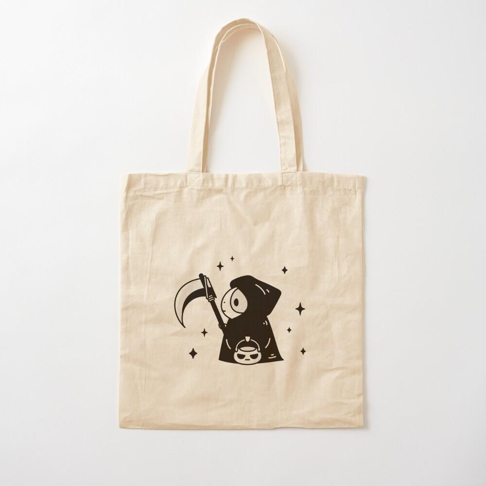 Bubu the Guinea pig, Little Grim Reaper Cotton Tote Bag