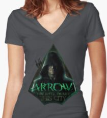Arrow, You have failed this city Women's Fitted V-Neck T-Shirt