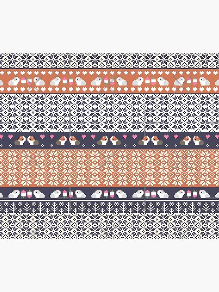 Guinea Pigs Christmas Sweater Pattern  by Miri-Noristudio