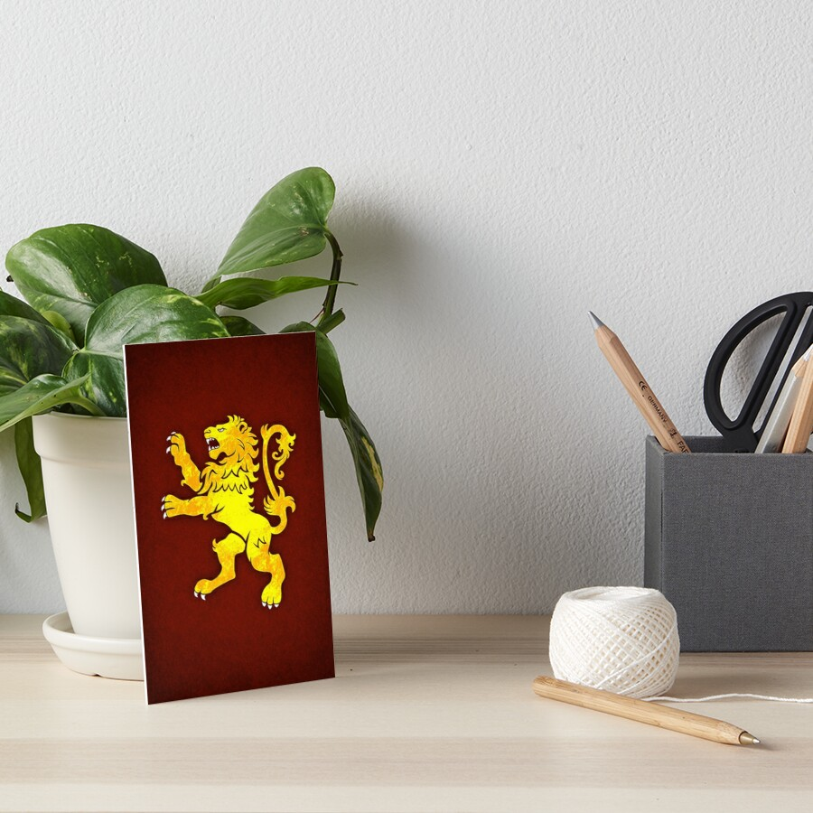 Lion Rampant Art Board Print
