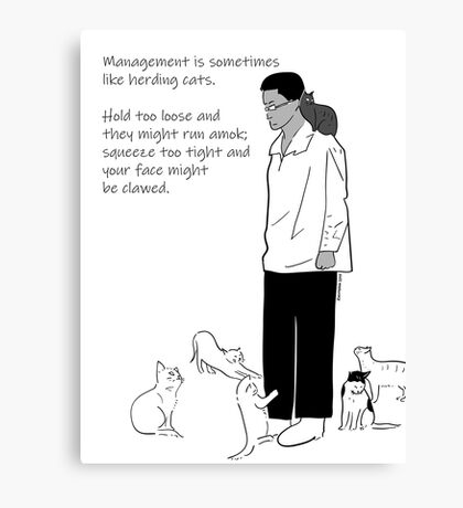 What Is Management? Canvas Print
