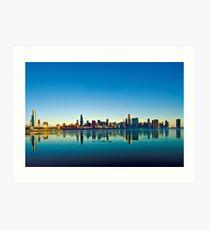 Chicago skyline at sunrise. Art Print