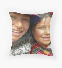 Flor y Yolanda Throw Pillow