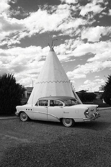Route 66 - Wigwam Motel by Frank Romeo