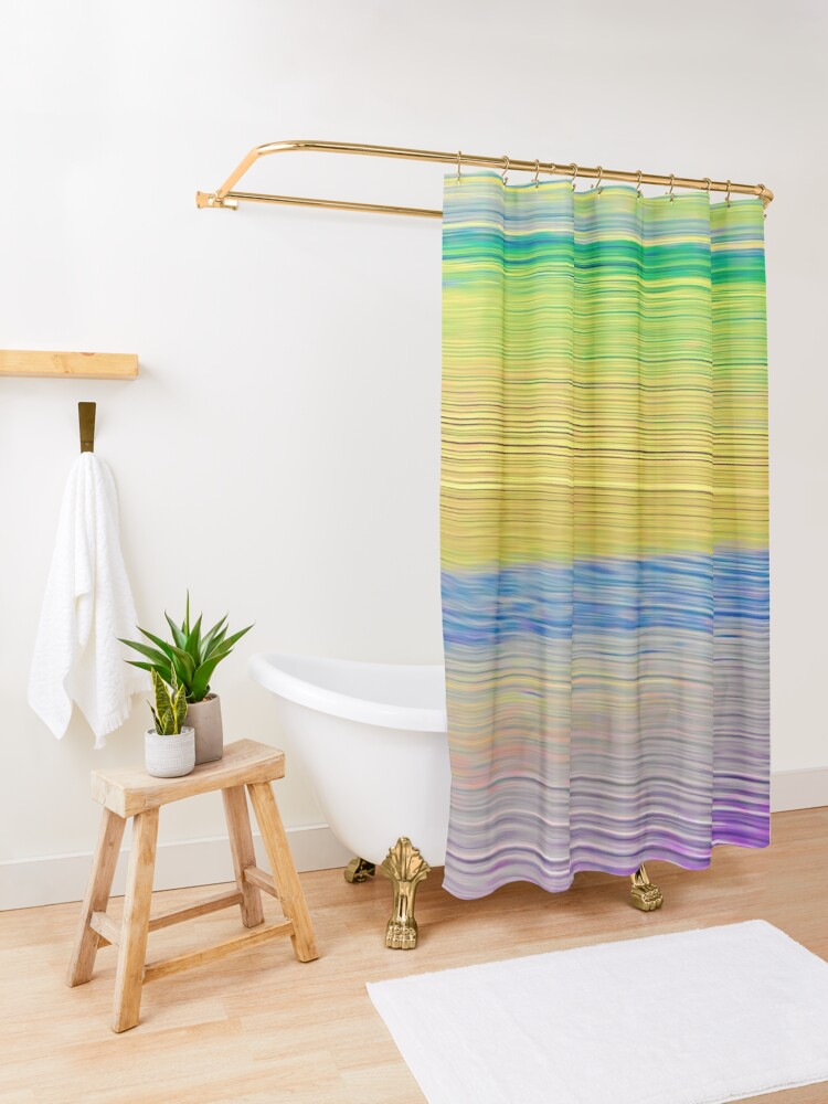 Alternate view of Sea Shades Shower Curtain