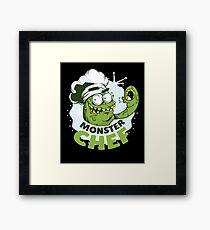 Monster chef cook Framed Print