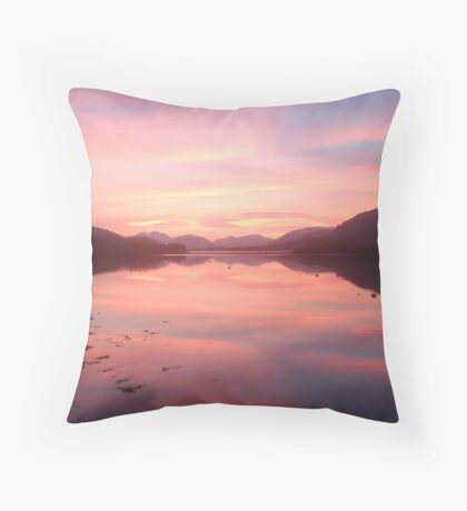 Sunset From Ballachulish Throw Pillow