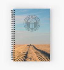 Swathing Straight Ahead Spiral Notebook