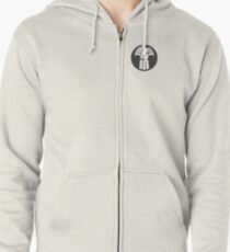 Made in Saskatchewan Sheaf Logo (Solid Dark) Zipped Hoodie