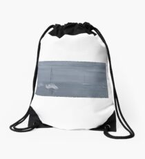 Major's Bay on a Misty Day Drawstring Bag