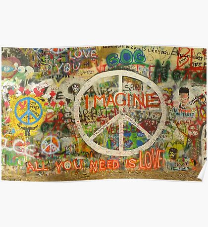 The Beatles John Lennon All You Need is Love Imagine Poster