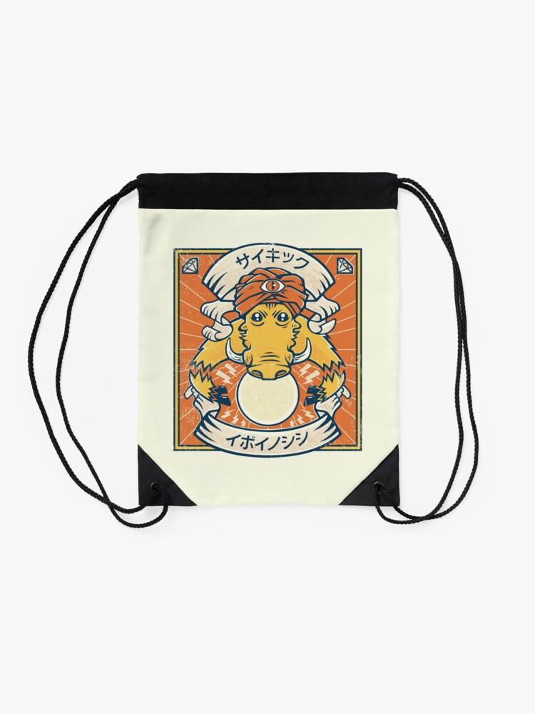 Alternate view of Psychic Warthog Drawstring Bag