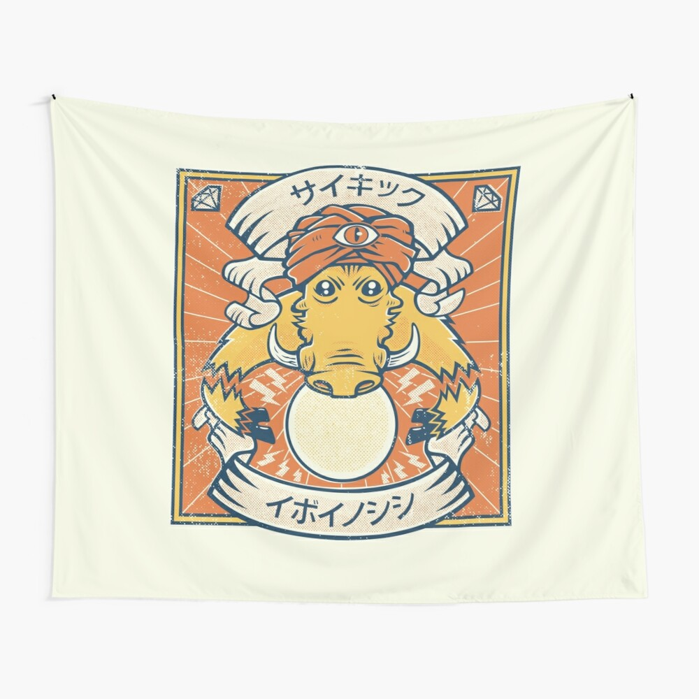 Psychic Warthog Wall Tapestry