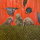 Portraits of New Zealand birds by Pam Buffery